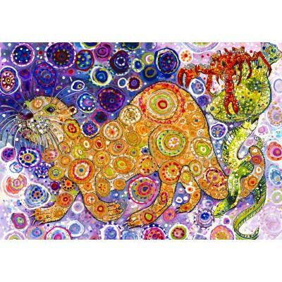 Puzzle  Grafika-02852 Sally Rich - Otters Catch
