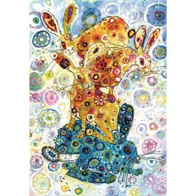 Puzzle  Grafika-02856 Sally Rich - Devon Hare Stack