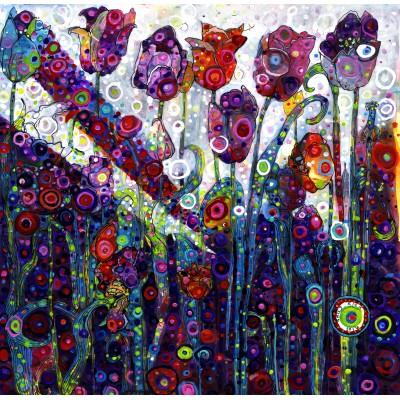Puzzle  Grafika-02864 Sally Rich - Tulips