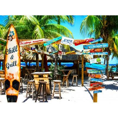 Puzzle Grafika-02877 Willemstad Beach, Curaçao