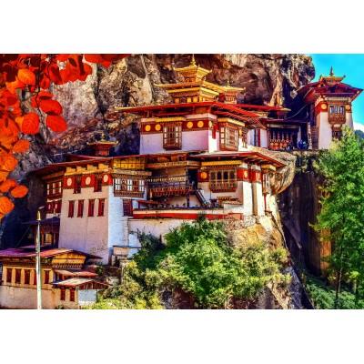 Puzzle  Grafika-02887 Taktshang, Bhutan