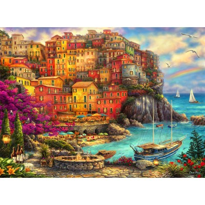 Puzzle  Grafika-02900 Chuck Pinson - A Beautiful Day at Cinque Terre