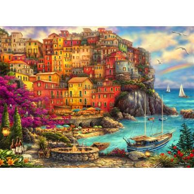 Puzzle Grafika-02902 Chuck Pinson - A Beautiful Day at Cinque Terre