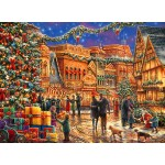 Puzzle  Grafika-02903 Chuck Pinson - Christmas at the Town Square