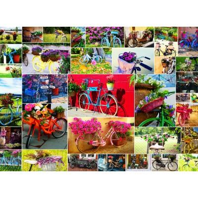 Puzzle  Grafika-02908 Collage - Fahrräder