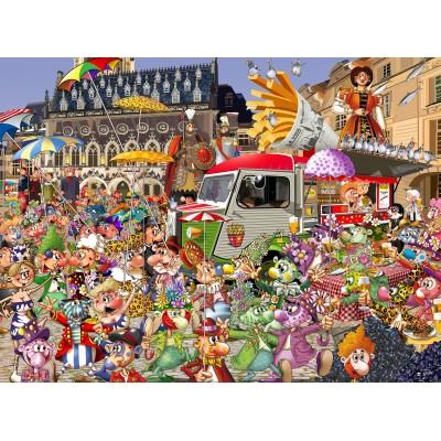 Puzzle  Grafika-02915 Braderie von Lille