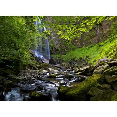 Puzzle  Grafika-02933 Melincwrt Waterfall near Neath