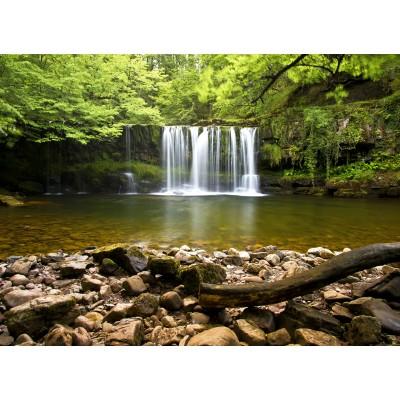 Puzzle  Grafika-02935 Sgwd Clun-Gwyn Waterfall near Neath