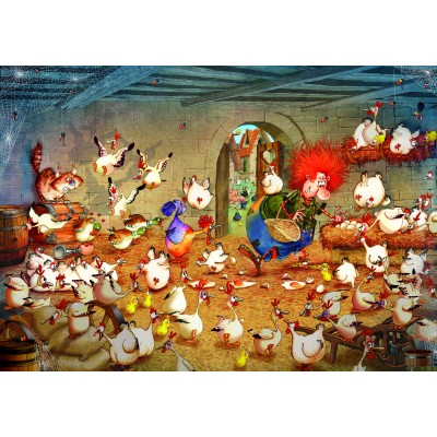 Puzzle Grafika-02968 Crazy Chicken Coop