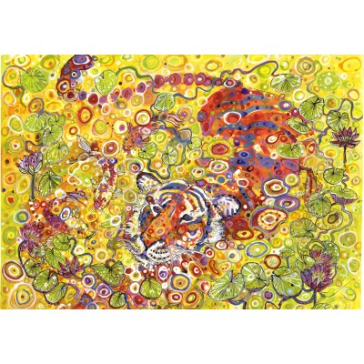 Puzzle  Grafika-02972 Swimming Tiger