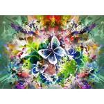 Puzzle  Grafika-T-00001 Frühlingsblumen und Schmetterlinge