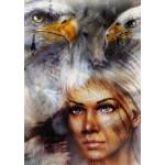 Puzzle  Grafika-T-00061 Die Frau, der Adler und das Pferd