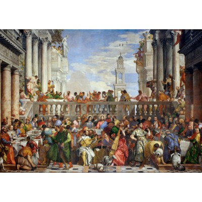 Puzzle  Grafika-T-00074 Paolo Veronese: Die Hochzeit zu Kana, 1563