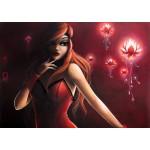 Puzzle  Grafika-T-00113 Misstigri: Red Light Flower