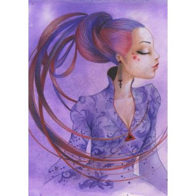 Puzzle  Grafika-T-00123 Misstigri: Violette