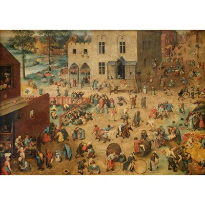 Puzzle  Grafika-T-00151 Brueghel Pieter: Die Kinderspiele, 1560