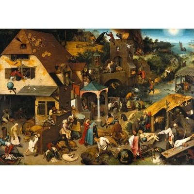 Puzzle  Grafika-T-00153 Brueghel Pieter: Die niederländischen Sprichwörter, 1559
