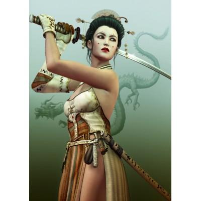 Puzzle  Grafika-T-00155 Weibliche Samurai