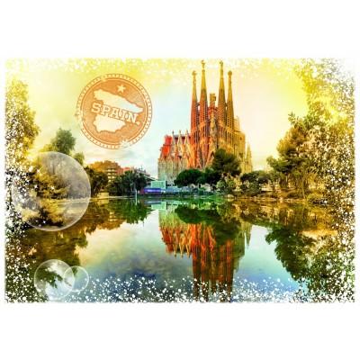 Puzzle Grafika-T-00196 Travel around the World - Spanien