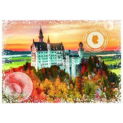 Puzzle Grafika-T-00199 Travel around the World - Deutschland