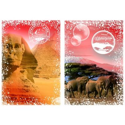 Puzzle Grafika-T-00206 Travel around the World - Afrika, Ägypten und Kenia