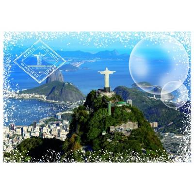 Puzzle Grafika-T-00227 Travel around the World - Brasilien