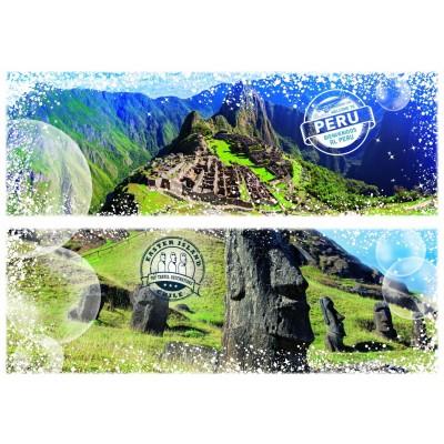 Puzzle Grafika-T-00230 Travel around the World - Chile und Peru