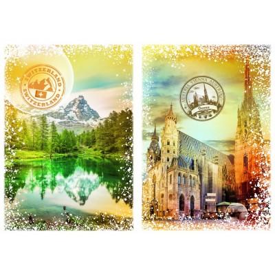 Puzzle  Grafika-T-00236 Travel around the World - Österreich und die Schweiz