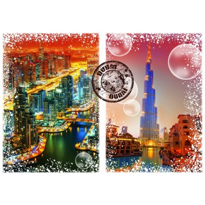 Puzzle  Grafika-T-00238 Travel around the World - Dubai