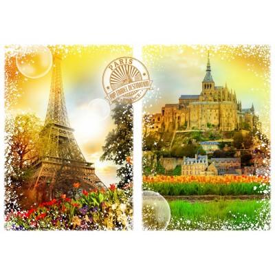 Puzzle Grafika-T-00242 Travel around the World - Frankreich