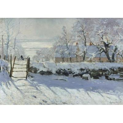 Puzzle  Grafika-T-00321 Claude Monet: Die Elster, 1868-1869