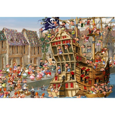 Puzzle Grafika-T-00480 François Ruyer - Piraten