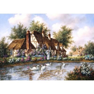 Puzzle  Grafika-T-00504 Dennis Lewan - Admiring The Swans