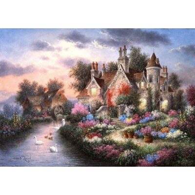 Puzzle  Grafika-T-00508 Dennis Lewan - Mill Creek Manor