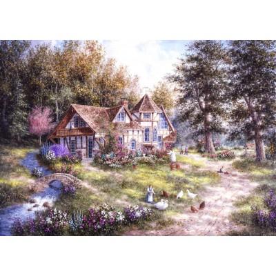 Puzzle  Grafika-T-00510 Dennis Lewan - Glacier Ridge Manor