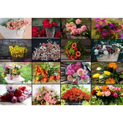 Puzzle  Grafika-T-00522 Collage - Blumen