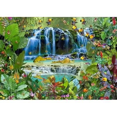 Puzzle  Grafika-T-00523 François Ruyer - Wasserfall
