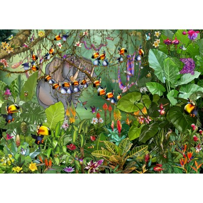 Puzzle  Grafika-T-00551 François Ruyer - Jungle