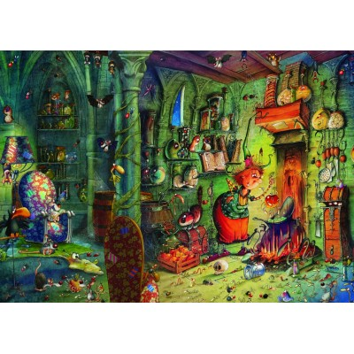 Puzzle Grafika-T-00584 François Ruyer - In der Küche!