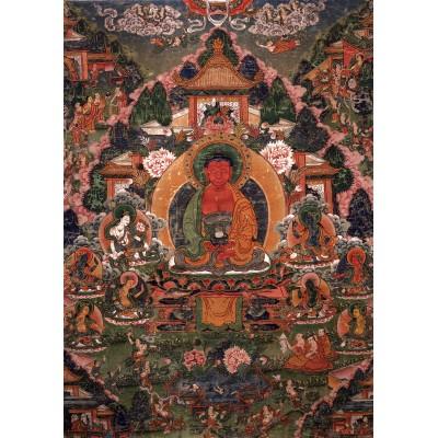 Puzzle Grafika-T-00602 Buddha Amitabha in His Pure Land of Suvakti