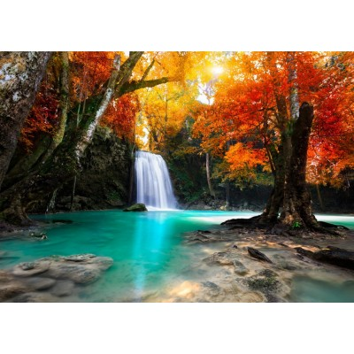 Puzzle  Grafika-T-00627 Deep Forest Waterfall