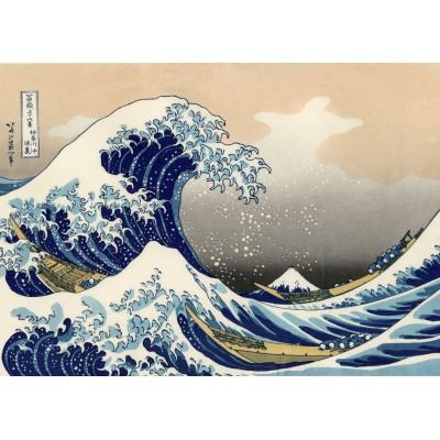 Puzzle  Grafika-T-00640 Hokusai - Die große Welle vor Kanagawa