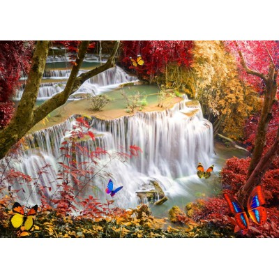 Puzzle  Grafika-T-00678 Deep Forest Waterfall