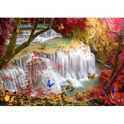 Puzzle Grafika-T-00680 Deep Forest Waterfall
