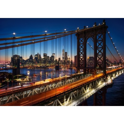 Puzzle  Grafika-T-00681 Brooklyn Bridge, Manhattan, New York