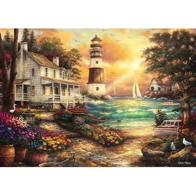 Puzzle Grafika-T-00706 Chuck Pinson - Cottage by the Sea
