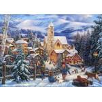 Puzzle  Grafika-T-00725 Chuck Pinson - Sledding To Town
