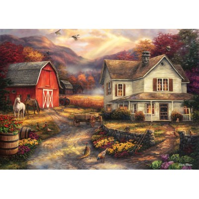 Puzzle  Grafika-T-00763 Chuck Pinson - Relaxing on the Farm