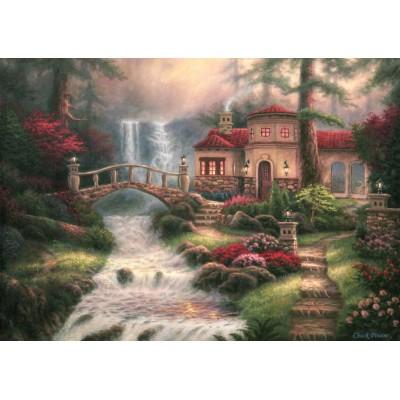 Puzzle  Grafika-T-00791 Chuck Pinson - Sierra River Falls