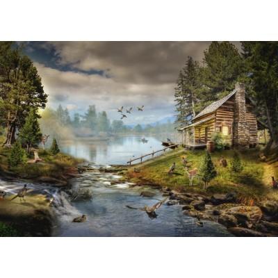 Puzzle  Grafika-T-00872 Die Fischerhütte
